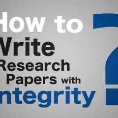 How to Write Research Papers with Integrity-1부